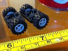 LEGO Black Base 2x2 Grey Wheel Car Vehicle Tyre Black 4 Wheels in Total