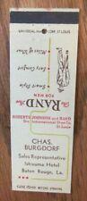 CLOTHING STORE: CHAS. BURGDORF RAND SHOE SALES REP. (BATON ROUGE, LOUISIANA) G23