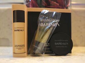 Bare Minerals Bare Skin Foundation powder brush set (MINI TRAVEL SIZE) 1G & 3ML