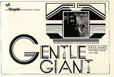 """SL26/12/75p6 FREE HAND BY GENTLE GIANT THE NEW ALBUM ADVERT 4X7"""""""