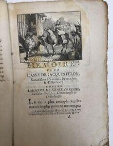 Rigoley de Juvigny, - Mémoire pour l'asne de Jacques Féron. 1750.Procès d'un âne