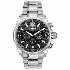 Citizen Eco-Drive Men's CA4170-51E Shadowhawk Chronograph Black Dial 43mm Watch