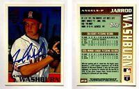 Jarrod Washburn Signed 1996 Topps #23 Card California Angels Auto Autograph