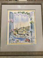 """Original Watercolor Landscape, Signed & Framed, 9 1/2"""" x 11"""" (Image), 16"""" x 18"""""""