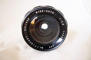 MINOLTA fit .....SOLIGOR.... 28mm f2.8 WIDE ANGLE lens