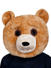 Adult Big Head Teddy Bear New Fancy Dress Mascot Grizzly Animal Mask Overhead