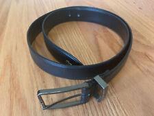 LACOSTE Mens Black Genuine Leather Work Belt Size 38