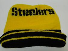 Retro Vintage 1980s PITTSBURGH STEELERS NFL FOOTBALL WINTER KNIT STOCKING CAP