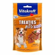 Vitakraft Snack per Cani Treaties Bit Pollo - 6 x 120g - Morbido Snack Ossequi