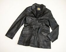 IMMACULATE ladies 'MDK' REAL FITTED LEATHER JACKET size L-XL