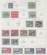 16 Dominica Stamps from Quality Old Antique Album 1903-1935