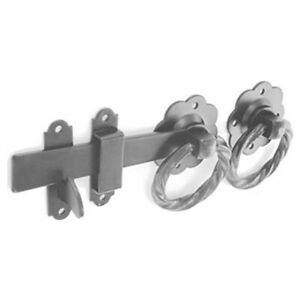 Gun Metal Grey Twisted Ring Gate Latch 152mm Perfect for Securing Gates & Sheds