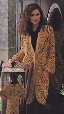Crochet Pattern ~ LADIES LACE MOTIF JACKET ~ Instructions