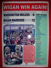 Wigan Warriors 12 Warrington Lobos 6 - 2016 gran final-Souvenir de impresión
