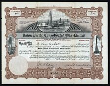 1914 Alberta, Canada: Union Pacific Consolidated Oils Limited