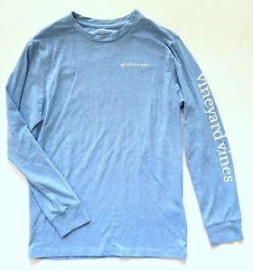 Vineyard Vines S Boys 8-10 Long Sleeve Blue Top Tee SB1-372