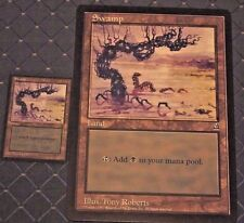 MTG ARENA 1996 PROMO 2 COUNT SWAMP CIRCLE M 6x9  JUMBO CARD FROM PACK FREE SHIP