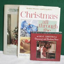 Lot-3 Christmas Books Decorating Recipes Crafts Stockings Ornaments Holidays +++