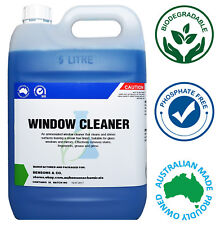 Glass & Window Cleaner 5 Litre 5L Concentrate Refill - Makes up to 200L!