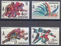 Czechoslovakia 1980 MNH Mi 2547-2550 Sc 2293-2296 Olympic Games, Moscow **