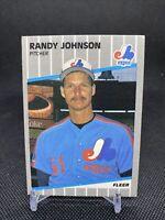 1989 Fleer Randy Johnson Montreal Expos #381 Baseball Card