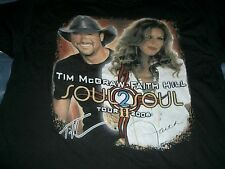 FAITH HILL TIM McGRAW There You'll Be CD + Soul 2 Soul 2006 Concert T-Shirt NEW
