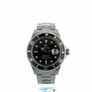 Rolex Submariner Date 16610 Black Dial Stainless Steel Box and Papers 2005