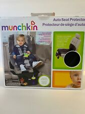 MUNCHKIN Auto Seat Protector with Expandable Storage Pocket (BLACK) New In Box