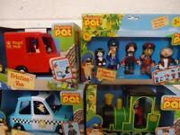 Postman Pat Friction Vehicle Police Car  Van  Rocket or 5 pack figures 3+