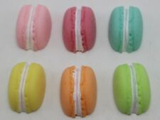 10 Mixed Pastel Color Resin Half Macarons Cookie Flatback Cabochon Scrapbooking