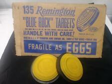 Vintage Remington Blue Rock Clay Pigeons / Skeet Targets - Nos - Sleeve Of 10