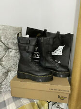 Dr Marten Black Leather Jagger Boots New Box Bag UK 7 RRP £199 SOLD OUT RARE