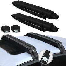 110cm Soft Car Roof Rack Pair of Bars Universal Luggage Carrier Pads with Straps