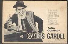 Carlos Gardel Argentinian Tango Singer Advertising Card