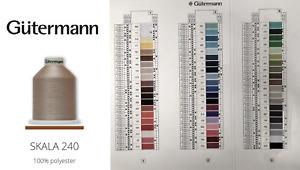 Gutermann SKALA 240 Polyester Overlocker Thread 5000m/5468yds - ALL COLOURS