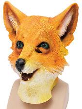 Adult Fox Wild Animal Overhead Rubber Mask Fantastic Mr Fox World Book Week Day