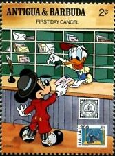 ANTIGUA & BARBUDA -1989- Disney - American Philately - First Day Cancel - #1239