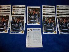 Lot of 22 - 1991-92 Upper Deck #460 Felix Potvin SR : Toronto Maple Leafs