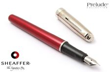 Sheaffer Prelude Metallic Red & Chrome Fountain Pen New Old Stock Made In USA