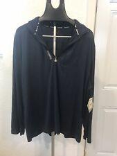 Reebok Athletic Pullover 1/4 Zip Long Sleeve Shirt Stretch Crossfit Golf Men's L