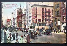 Antique Postcard Original 5th Ave North Of 42nd Street NY.NY No. A1598