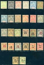 FOURNIER   FORGERIES  -   FRENCH REUNION   --early issues -26 stamps- lot 332