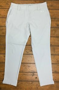 Oakley Womens 6 Golf Troon Pants Light Gray Vented Hems Stretch Style 521500