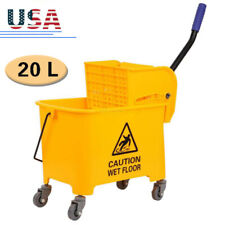 20l 5 Gallon Commercial Mini Mop Bucket With Wringer Combo Cleaning Cart Wringer