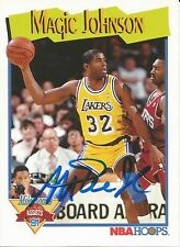1991 NBA Hoops Los Angeles Lakers Magic Johnson Signed Auto Card IN PERSON PROOF