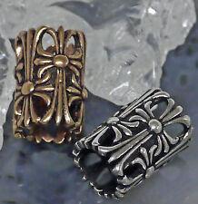 Auswahl Bartperle Templar 50 Bartgummis Bartschmuck 925Silb. od Bronze Bartring