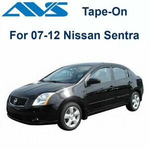 AVS 94165 - Fits 07-12 Nissan Sentra Rain Guards Tape-On Window Vent Visor 4Pc
