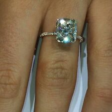 5ct engagement ring sterling silver 925 brilliant cushion cut AAAAA grade cz new