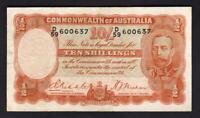 Australia R-11.. (1936) 10 Shillings - Riddle/Sheehan.. George V Portrait.. Fine