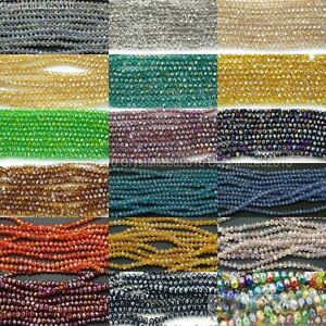 100Pcs Top Quality Czech Crystal Faceted Rondelle Spacer Beads 3mm x 4mm Pick